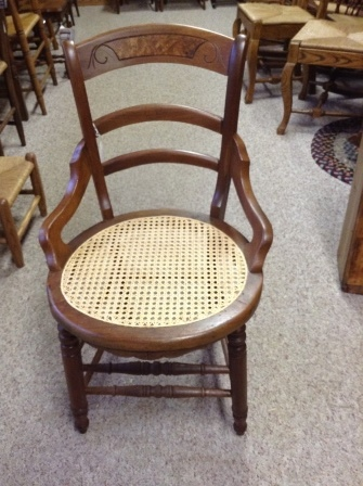 Delicieux ... C76 Restored Antique Walnut Caned Chair W/ Hips ...