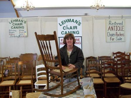 Lehman's Chair Caning Display