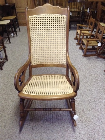 ... R46 Restored Antique Lincoln Rocker W/ Hand Caning ...