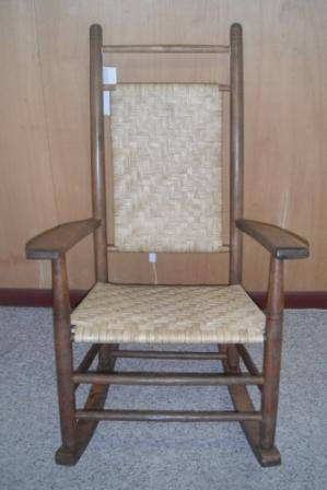 ... Antique Highback Porch Rocker With Flat Reed R0008 ...