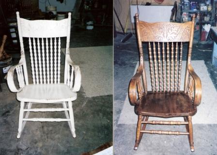 Rocker Before And After.122174924 Furniture Restoration