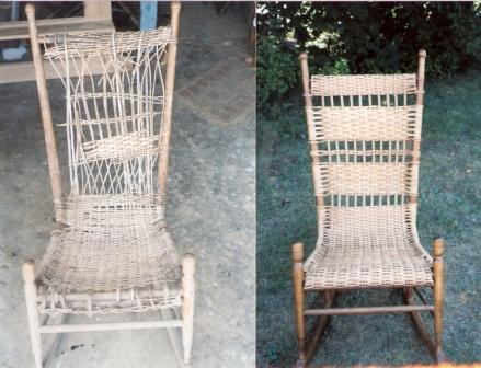Wicker Rocker Before and After